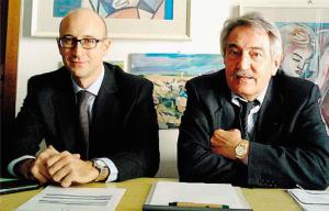 da sinistra l'avvocato Giuseppe Giulio Luciani e Secondo Malaguti, presidente di Confconsumatori Reggio Emilia