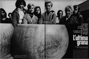 Lo sciopero del Parmigiano del '76 raccontato dalla rivista Epoca (servizio di Gianni Mura), che ha segnato l'origine dell'associazione