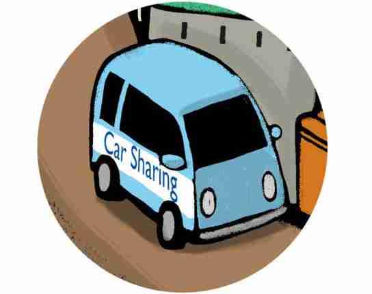 car sharing, car pooling